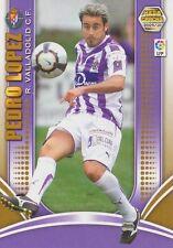 N°291 PEDRO LOPEZ MUNOZ # REAL VALLADOLID.CF CARD PANINI MEGA CRACKS LIGA 2010