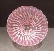 Studio Glass Pink And White Swirl Modern Design Bowl - MINT