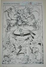 SERGIO ARAGONES original art SPLASH PAGE GROO MIGHTIER THAN THE SWORD #2 PAGE 20