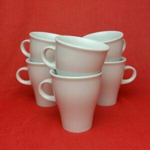 6x Arzberg Move Weiß Espressotassen Espresso-Obertassen 100 ml Porzellan