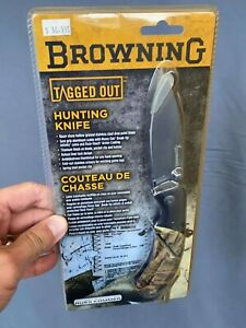 Browning Tagged Out Hunting Knife Titanium Finished Stainless Steel Mossy Oak