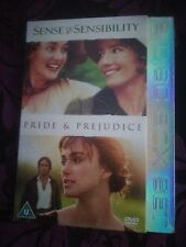SENSE AND SENSIBILITY/PRIDE AND  PREJUDICE DVD NEW AND SEALED.