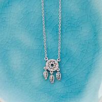 Traumfänger Kette Halskette 925 Sterling Silber Zirconium Boho Filigran