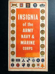 Mint USA Brochure Leaflet American Express Army Divisions Advertising