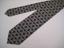 Santostefano Italy 100% Silk Neck Tie  - Taupe/Dark Teal/Black