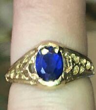 Rare Vintage Raymond Beard   Sapphire 14K Gold Ring