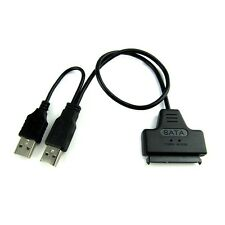 "Usb 2.0 A Sata Serial Ata 15 +7 22p Adaptador Cable Para 2.5 ""HDD Laptop Disco Nuevo"