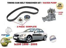 FOR LEXUS IS200 2.0 1G-FE 1999-> WATER PUMP KIT + TIMING CAM BELT TENSIONER KIT