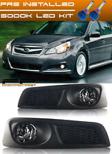 For 2010 2011 2012 Subaru Legacy BM9 LED Clear Fog Lights Complete Kit + Wiring