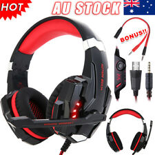 G9000 3.5mm Gaming Headset MIC Red LED Headphones for PC Mac Laptop PS4 Xbox One