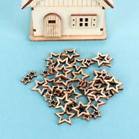 Wood Wedding Supplies Wooden Crafts Star Shape Ornament Embellishment Hollow