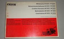 Teilekatalog / Ersatzteilliste Deutz Fahr Mähdrescher M 1000 / M 1200