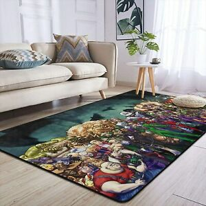 Joker Villain Rugs Area Rug Living Room Bedroom Soft Flannel Floor Mat Carpet