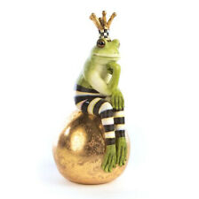 New ListingMackenzie Childs Courtly Check/Gold Fergal Frog On Ball Retail $98