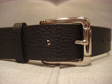 COLE HAAN 35MM FEATHER EDGE STITCH PEBBLE LEATHER BLACK BELT SIZE 38 - BRAND NEW