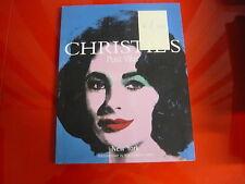CATALOGO D'ARTE-CHRISTIE'S-POST WAR-NEW YORK-EVENING SALE-WEN. 15/11/2000