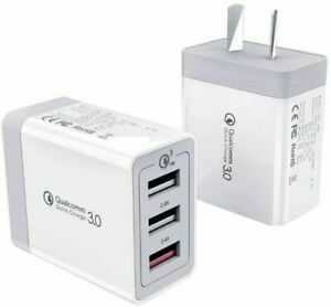 30W QC 3.0 Fast Charging 3 USB Wall Charger Adapter For Iphone & Samsung AU Plug