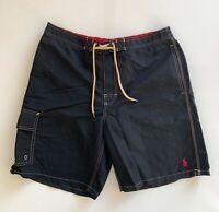 Polo Ralph Lauren Mens Designer Board Shorts Swim Trunks Black Size L or XL
