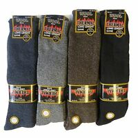 Mens Wool Blend Long Thermal Thick Socks Cushion Sole  2.1 tog Warm Winter