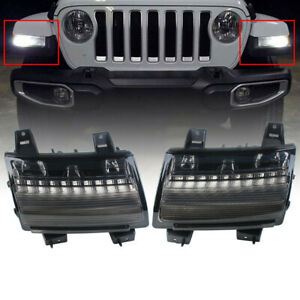 Daytime Running Turn Signal Lights Lamp DRL Fit for Jeep Wrangler JL 2018-2019