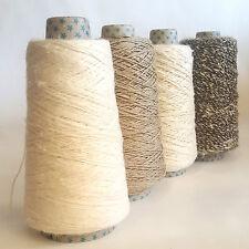 Strong Natural Pure Linen Warp Yarn, Twine, String, Thread, Macrame Weaving 200g