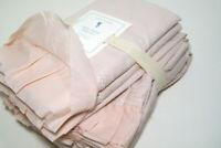 Pottery Barn Kids Blush Color Sadie Ruffle Organic Cotton Twin Sheet Set New