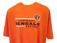 Majestic NFL Cincinnati Bengals Orange Short Sleeve T-Shirt, Men's 5XL 6XL, nwt