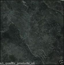 28 x Vinyl Floor Tiles - Self Adhesive - Bathroom Kitchen BN - Black Marble 198