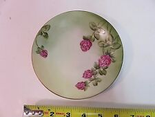 Jean Pouyat Limoges JPL France Plate Flowers Handpainted 1906-1932 Raspberry