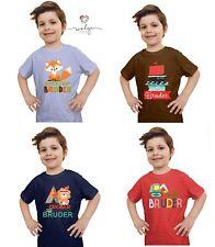 T-Shirt großer Bruder Name personalisiert viele Motive Auto Dino Pirat Fuchs