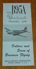 Vintage Rare 1961 Beechcraft Model B95A Travel Air Brochure
