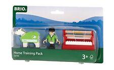 Train en Bois Brio 33795 Pferde-Parcours 7-tlg. Animaux de la Ferme Accessoire
