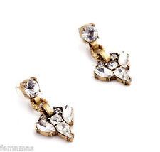FemNmas Branded Stone Studed Small Earrings