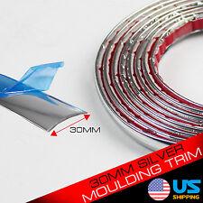 30mm Car Decoration MOULDING Trim Decorative Strip Chrome Silver By The Foot