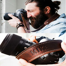 Personalized Camera Strap Leather Adjustable Gift