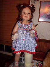 """Monica Levenig """"Unity"""" 28"""" tall porcelain doll  Masterpiece Gallery NIB"""