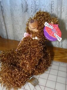"First and Main Harvey Soft Brown Plush Bear Stuffed Animal  11"""