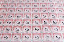 US Mint Never Hinged Postage Stamps Full Sheet Scott # J88-J89-J90 POSTAGE DUE