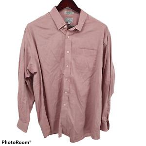 Men's LL Bean 100% Cotton Traditional Fit Button Shirt Size 18/35 XXL
