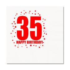 35th BIRTHDAY LUNCHEON NAPKIN 16/pkg Large Napkin Birthday Party Supplies T283