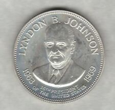 More details for franklin mint lyndon b johnson 36th president usa one ounce silver medal.