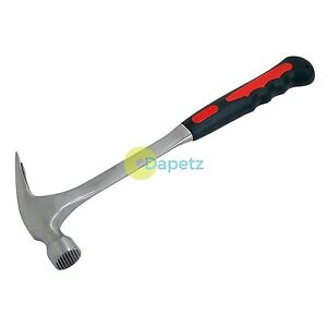 24Oz 1.5Lb Forged Steel Claw Hammer Tpr Anti Vibration Rubber Grip Handle Tool