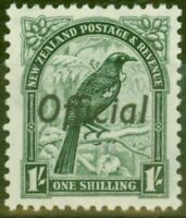 New Zealand 1937 1s Dp Green SG0131 V.F MNH