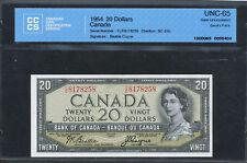 1954 $20 Devil's Face Bank of Canada CCCS UNC-65 Gem Unc. C/E. BC-33b. BV $525