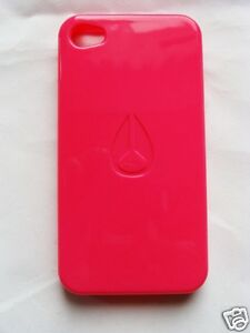 Original NIXON Jacket iPhone 4 und 4s Case Schutzhülle weich in rot Tönen