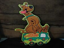 Metal Scooby Doo Mystery Machine Sign truck wheel tire auto shop character dog