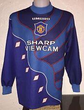 Manchester United 95-96 Away Goalkeeper Football Shirt Sharp Rare Vintage Umbro.