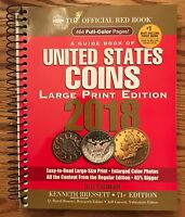 2018 Official Red Book(Large Print)Guide Book Of United States Coins R.S. Yeoman