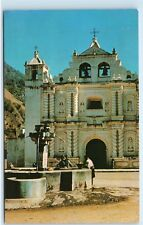 Zunil Guatemala Fountain Church Cathedral Quezaltenango Vintage Postcard B47
