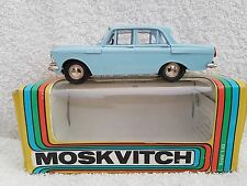 1/43 SCALE DIECAST USSR MADE MODEL CAR MOSKVICH MOSKVITCH 408 LIGHT BLUE
